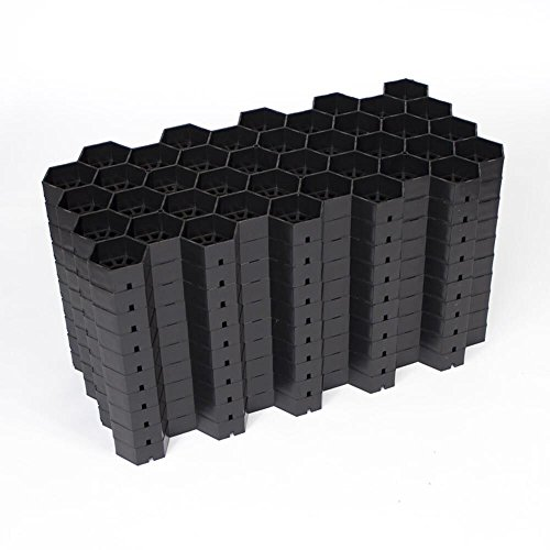 EASYGRAVEL® Kiesgitter Bodenwabe Kiesstabilisierung Schwarz Pakett 3,74m² befahrbar von PKW und LKW, Kieswaben