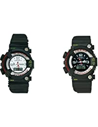 Freny Exim Combo Of Sport Stylish Big Black And White Dial Digital Watch For Men - For Boys