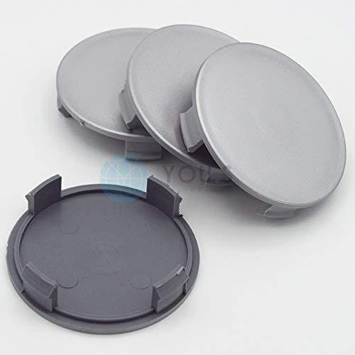 4 x YOU.S Nabenkappen Nabendeckel Felgendeckel 75,0 - 72,0 mm - silber