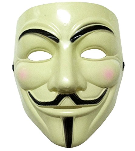 (Inception Pro Infinite Maske - Gelbe Farbe - Karneval - Halloween - Frau - Mann - Guy Fawkes - Film - Berühmte - Anonymous - V Wie Vendetta)