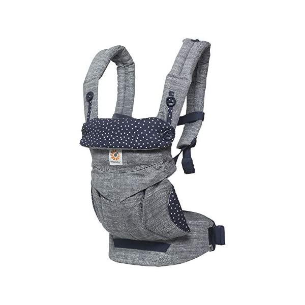 Ergobaby Babydraagzak 360 Sunrise Star Dust Ergobaby 4 Weight range: 12- 33 lbs. (from 7-12 lbs. with infant insert, sold separately) Ergonomic seat for baby, adjustable for forward-facing 1