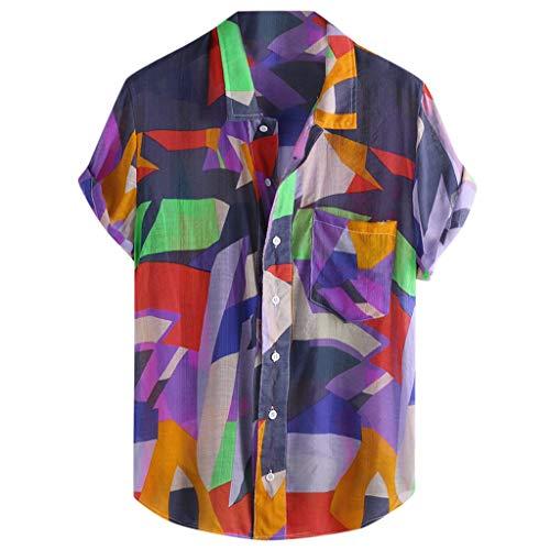 Xmiral uomo t shirt uomo vintage t shirt donna divertenti camicetta maglietta maglietta mates maglietta uomo manica corta sport tee maglia maglietta maglietta a uomo sportswear (m,5- viola)