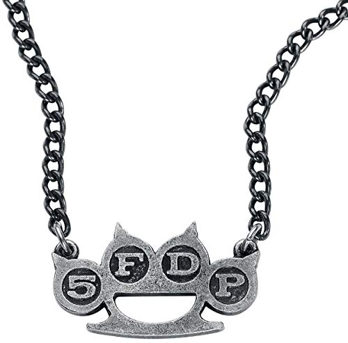 Five Finger Death Punch Knuckle Halskette silberfarben
