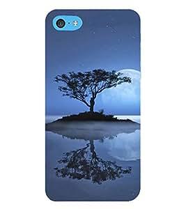 HiFi Designer Phone Back Case Cover Apple iPhone 6s Plus :: Apple iPhone 6s+ ( Full Moon Blue Water Tree )