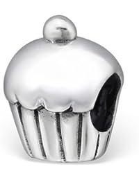 Cupcake Perle charm en argent sterling 925poinçonné