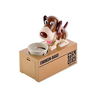 ds. distinctive style DSstyles Hungriger Hund Piggy Bank Geld Sparen Feld Essen Münze Munching Spielzeug Kinder
