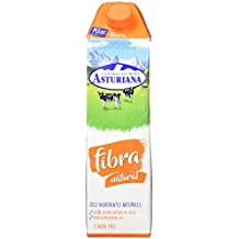 Central Lechera Asturiana - Leche Con Fibra UHT Semidesnatada - Botella 1 L