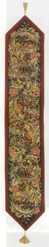 Table Runner, Tapestry Fabric, French Made - Elegant