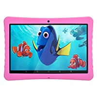 Android Kids Tablet 10 Inches 1080p Full HD Display Tablet,Android 7.0, 2GB+32 GB, Dual Camera Front 2MP+ Rear 5MP, Bluetooth and WiFi, Kid-Proof Case and Parent Control Apps BENEVE(Pink)