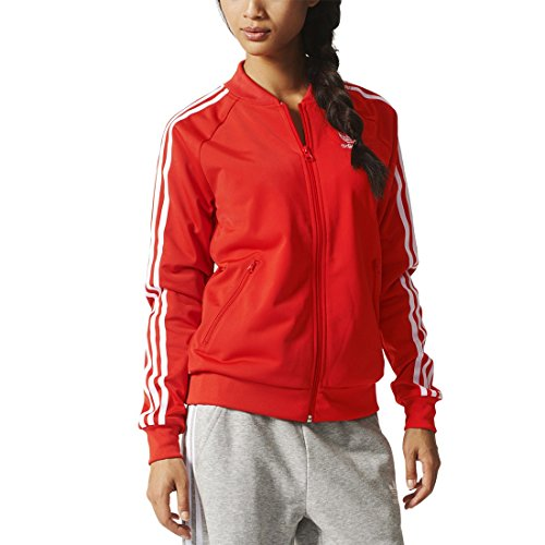 Adidas Originals - Giacca da allenamento Super Girl, Donna, Trainingsjacke Supergirl Originals, Lush Red S16-St, 40
