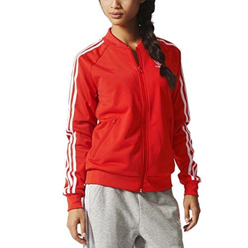 Adidas Originals-Giacca da allenamento Super Girl, Donna, Trainingsjacke Supergirl Originals, Lush Red S16-St, 40