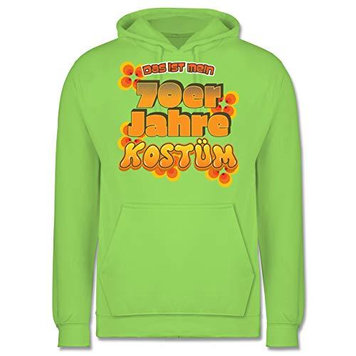 Shirtracer Karneval & Fasching - Das ist Mein 70er Jahre Kostüm - 3XL - Limonengrün - JH001 - Herren Hoodie