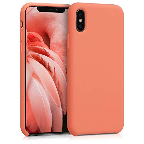 kwmobile Apple iPhone X Hülle - Handyhülle für Apple iPhone X - Handy Case in Papaya