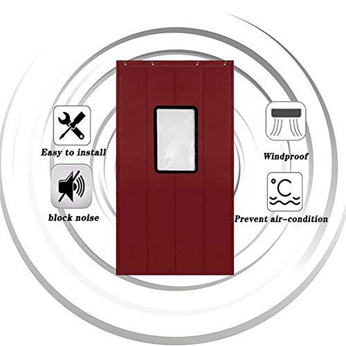 WUFENG-Cortina puerta Con PVC Ventana Visual Aislamiento