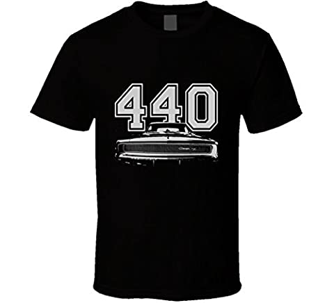 Merry Emperor CarGeekTees.com 1968 CHARGER Grill White Graphic Engine Size T Shirt