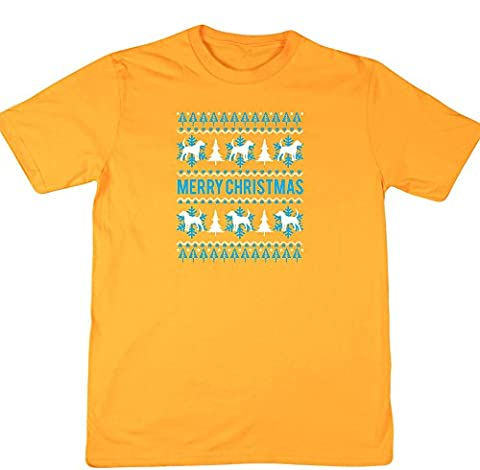 hippowarehouse Merry Hund Weihnachten Unisex Short Sleeve T-Shirt Gr. XX-Large, gold