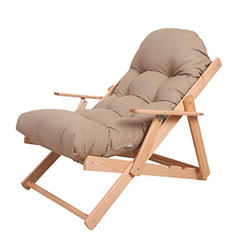 TAO Kamel Holz faltende Faule Couch waschbar stützendes Schlafzimmer Büro Nickerchen Stuhl bequem und bequem Hocker 57,5   × 100 cm -