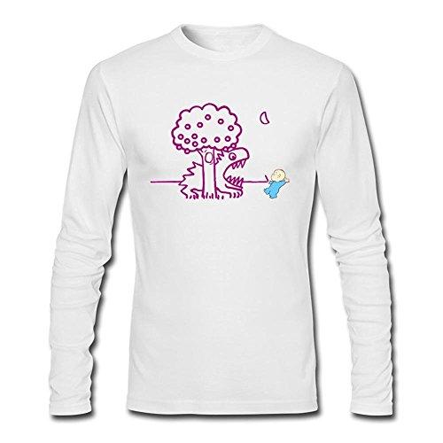 herrens-elmer-fudd-art-long-sleeve-cotton-t-shirt-small