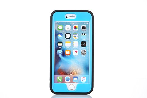 ARTLU® iPhone 6/6s Case Shield Armor Case Protection puissante [3 en1 Color Mix Design], Case dur hybride souple Durable Bumper Case Armure Case Retour couverture avec béquille pour Apple iPhone 6 6S  Blue