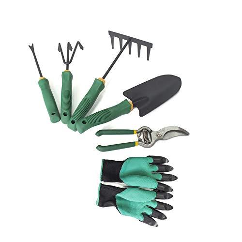 6pcs outil de jardin outils de jardinage essentiels truelle cultivateur élagage cisaillement 5 dents râteau 3 dents cultivateur outil de désherbage outil de transplantation