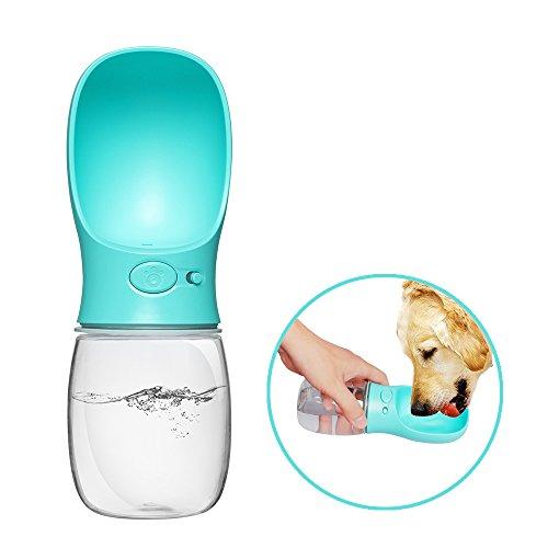 Belking bottiglia d'acqua per cani, 350ml bottiglia d'acqua portatile per cani, a prova di perdite bottiglia d'acqua dell'animale domestico,pet bottiglia d'acqua da viaggio per cani/gatti - blu