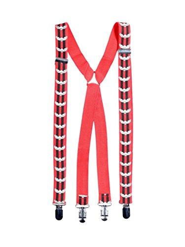 Hosenträger Totenkopf mit Flügel (Tragen Hosenträger)