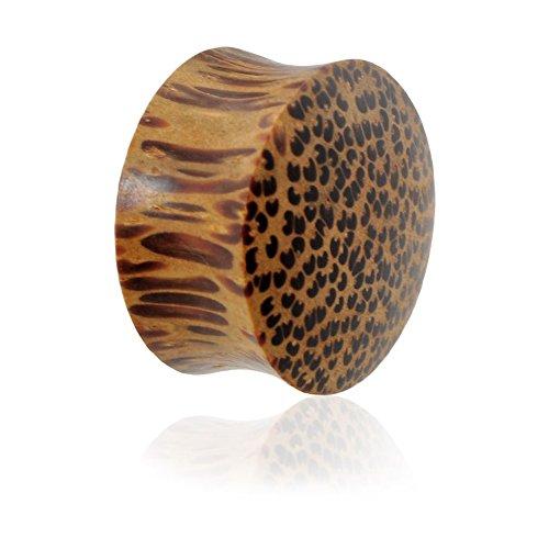 Paar Bio Kokos Holz Plugs