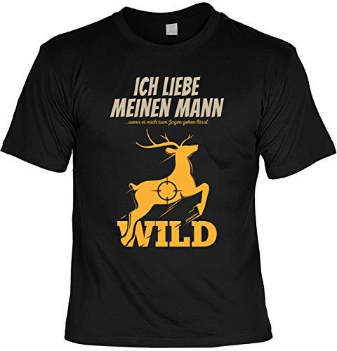 Lustiges Fun T-Shirt Jäger - Ich Liebe Meinen Mann Wenn er Mich zu Jagen Gehen lässt - Jäger Förster Geburtstag