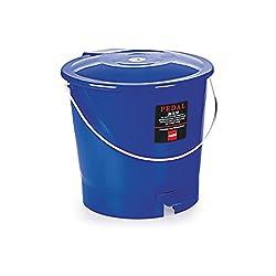Cello Plastic Pedal Bin Garbage Bucket Small , Blue, 6 Litre