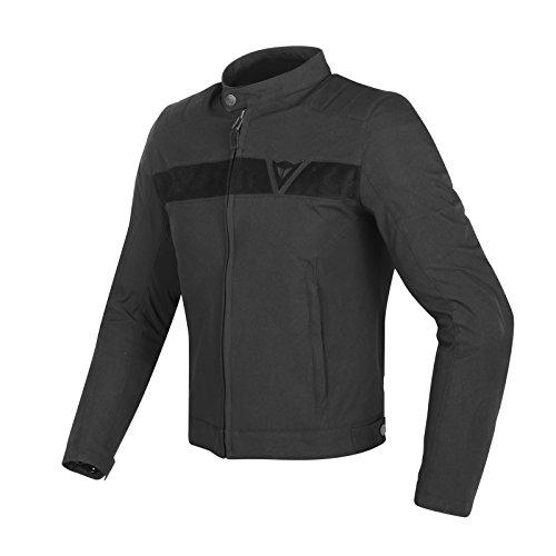 Dainese-stripes tex giacca da moto, nero/nero, taglia 50