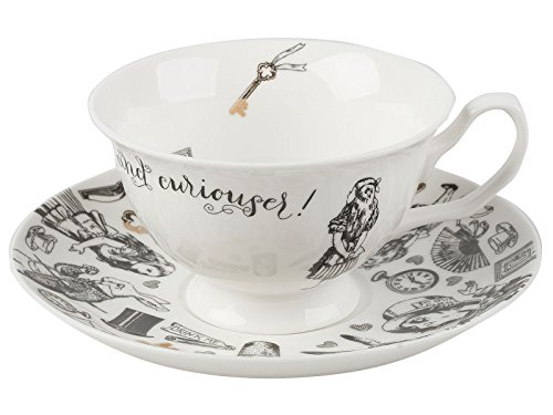 "V&A ""Alice in Wonderland"" Cup and Saucer by Creative Tops, 210 ml (7 fl oz)"