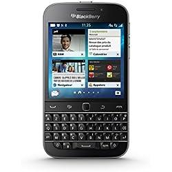 Blackberry Classic Smartphone débloqué 4G (Ecran : 3,5 pouces 16 Go Simple SIM Blackberry) Noir [ le clavier est en AZERTY ]