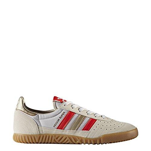 Adidas Herren Rod Laver (adidas Herren Indoor Super Fitnessschuhe, Verschiedene Farben (Marcla/Rojbas/Ciberm), 44 EU)