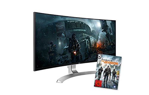 LG 34UC98-W 86,4 cm (34 Zoll) Computer-Monitor (HDMI, Thunderbolt 2, USB 3.0, Display Port, 5 ms Reaktionszeit, ergonomischer Neigefuß mit Höhenverstellung, Curved Ultra Wide QHD) Weiß Widescreen Flat Panel