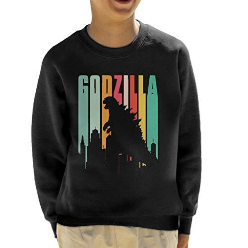 Godzilla Rainbow Stripes Kid's Sweatshirt (Filme Godzilla Original)