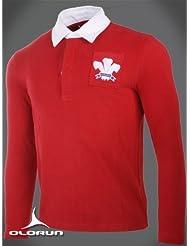 Olorun Authentic Rugby clásico Vintage Gales Camiseta (S-4X L)
