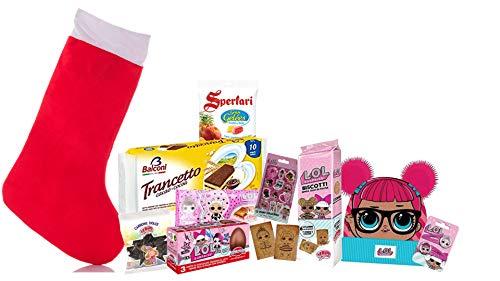 Irpot kit maxi calza befana con dolciumi a tema lol surprise