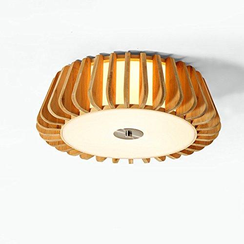 Plafonnier Peaceip Lampe de Plafond en en Bois de Style Simple, pour Salon, Chambre à Coucher, Bureau, Cuisine (Taille : L)