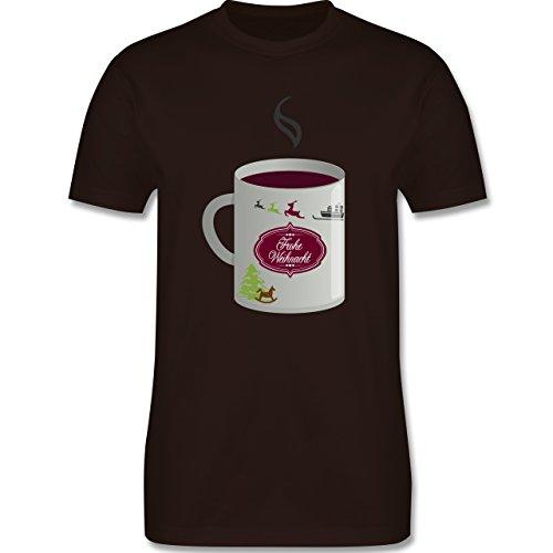 Weihnachten & Silvester - Glühwein Frohe Weihnachten - Herren Premium T-Shirt Braun