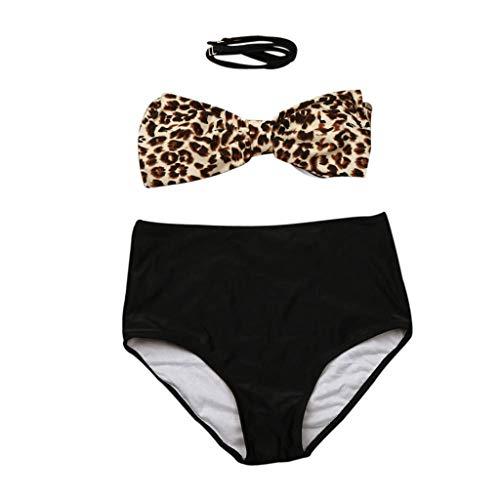 e298f1081af1 Qinsling Costume da Bagno Donna Due Pezzi,Spacco del Leopardo Sexy Bikini  Set Costumi da Bagno Bikini Push Up Set Sexy Mare