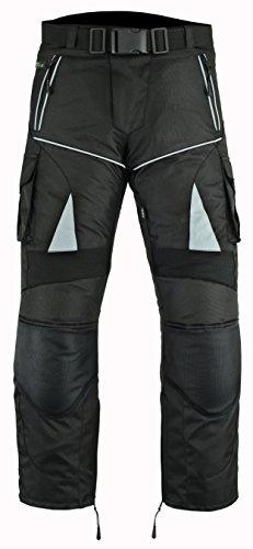 Biker Motorrad Hose windabweisend, wasserdicht, mit CE Armours. xl schwarz - schwarz