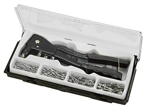 kwb Blindnietzange inkl. 100 Nieten 407190 (schwere Ausführung, Aluminiumnieten, inkl. Griffschutz)