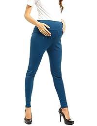 Femme Solid Taille Haute Pantalon Sur Ventre Rond Legging Maternite grossesse coton stretch pantalon
