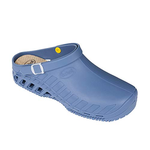 Dr. Scholl Clog Evo Scarpe Professionali Azzurro (42-43, Azzurro)