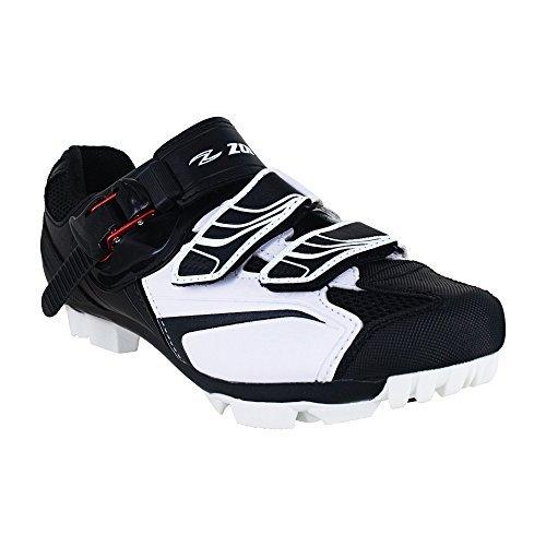 Zol Trail Plus MTB indoor scarpe da ciclismo, White with Black, 44 CM (EU)/ 11 (US)