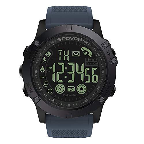 Yallylunn Flagship Rugged Smartwatch-ÜBerwachung Der Herzfrequenz Telefon SMS E-Mail Wetterwarnung 33 Month Standby Time 24H All Weather Monitoring