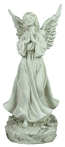 Colourliving® de décoration ange priant debout Ange Figurine Ange Ange tombale pierre tombale Figurine