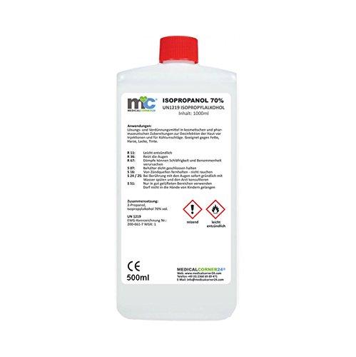 : Medicalcorner24 isopropanol 70% alcool isopropylique 500 ml de 2 propanol