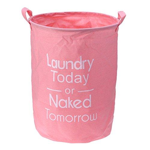 Demiawaking étanche Couleur de lumière en lin Sale Vêtements Organiseur Corps Panier à linge, rose clair, Light pink