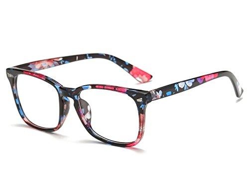 Bmeigo Klare Linse Gläser Nerdbrille für Frauen und Männer klassische Schwarzer Rahmen Unisex Brille